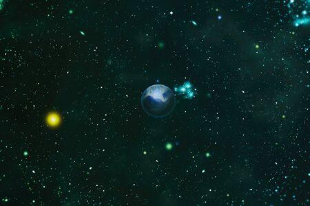 Nébuleuse de l'étoile brillante. Galaxie lointaine. Image abstraite. Banque d'images