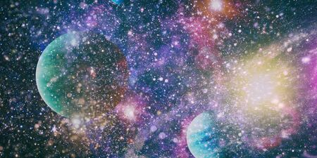 Background of the universe. Star cluster and nebula - A cloud in space. Abstract astronomical galaxy.