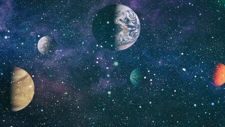 Nebula and star field against space. Stock Photo