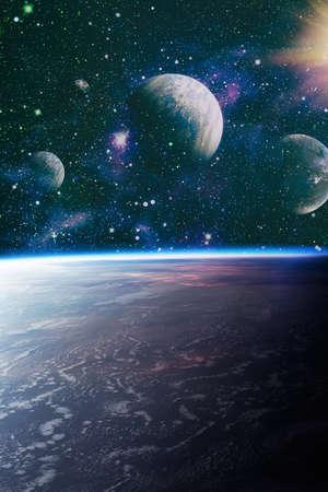 space background with nebula and stars. Standard-Bild