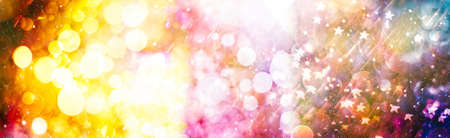 Colored abstract blurred light glitter background layout design can be use for background concept or festival background. Banque d'images