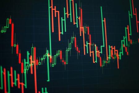 Working set for analyzing financial statistics and analyzing a market data. Zdjęcie Seryjne - 161847986