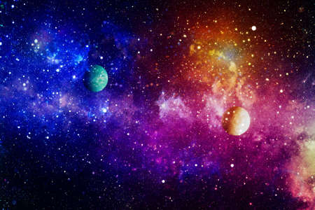 Colorful nebula. Space abstract background.