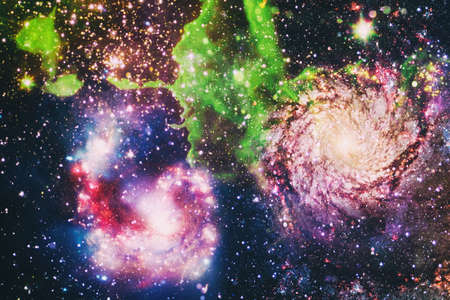 Milky way cosmic background. Star dust and pixie dust glitter space backdrop. Space stars and planet conceptual image.