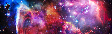 Nebula and galaxies in space. Space many light years far from the Earth. 版權商用圖片