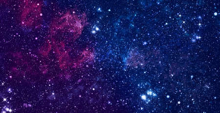 Chaotic space background. Planets, stars and galaxies in outer space showing the beauty of space exploration.