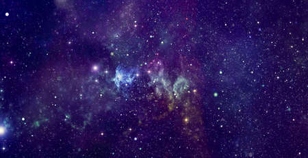 nebula and cosmic dust, cosmic gas clusters and constellations in deep space. Stock Photo