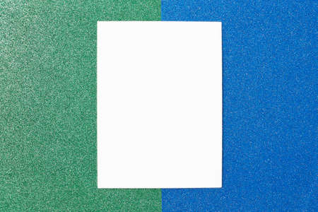 Blue and green geometric abstract background. Template for the designer