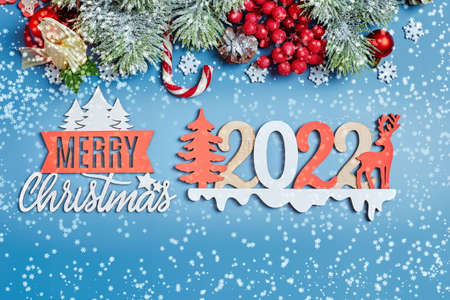 Christmas background, celebration, New Year's eve party concept. New Year's background with New Year decorations. 版權商用圖片