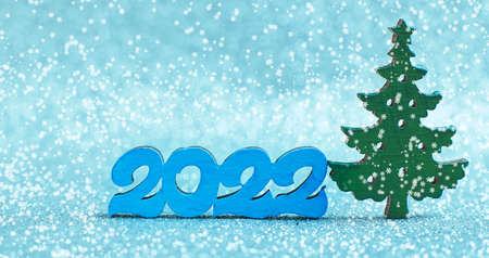 Merry Christmas and happy new year concept. Merry Christmas and Happy New Year glitter background 2022