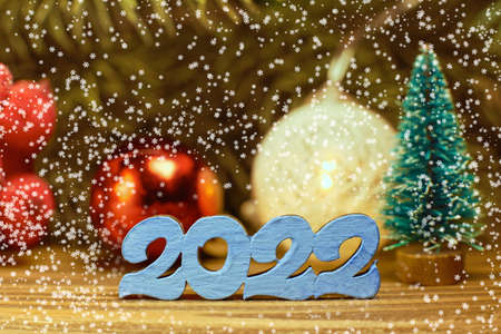 Merry Christmas and happy new year concept. Merry Christmas and Happy New Year 2022 版權商用圖片