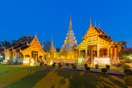 Wat Phra Singh in Chiang Mai is located in the western part of the old city center of Chiang Mai, Thailand,Wat Phra Singh is a emerald temple in Chiang Mai