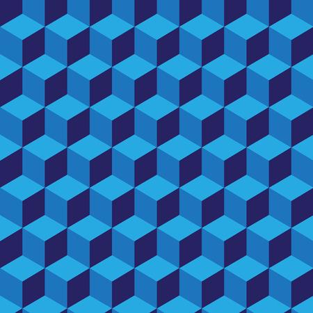 voluminous: Seamless pattern with geometrical figures voluminous blue