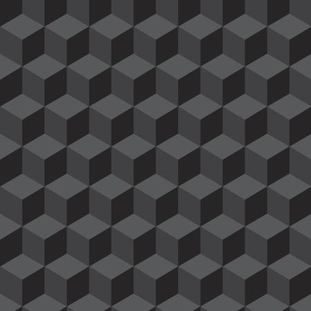 voluminous: Seamless pattern with geometrical figures voluminous dark