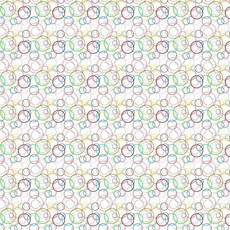 different shapes: Pattern with circles of different shapes and colors Illustration