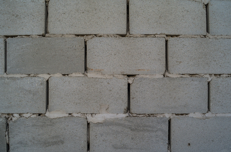 cinder: The wall of cinder block close up