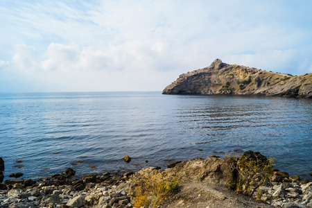 The landscape of the bay in the Crimea on the trail Golitsyn Stock Photo