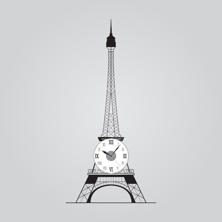 Eiffel Tower with Clock