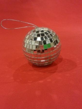 christmas deco: glitterring deco navidad Foto de archivo