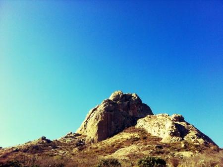 Pea de Bernal en Quertaro Reklamní fotografie