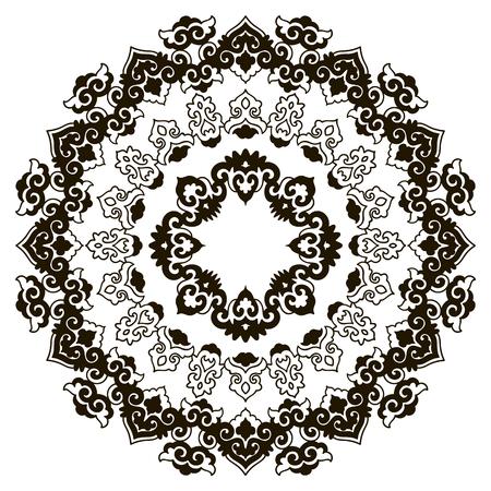 Beautiful black and white mandala Illustration