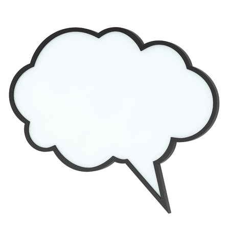 Empty high-quality speech bubble or tag cloud on white