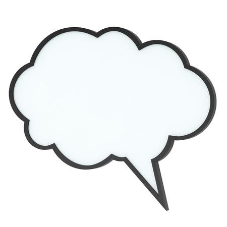 Nube de burbujas o etiqueta de discurso vac�o de alta calidad en blanco