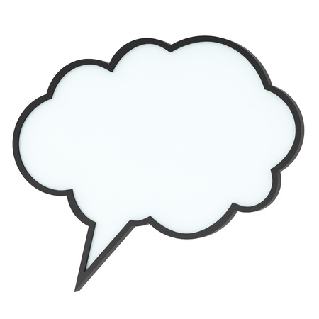 thought: Empty high-quality speech bubble or tag cloud on white