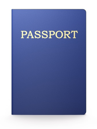 Passport on white background photo