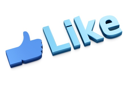 Like word 3d  render on white background Stock Photo - 11699398