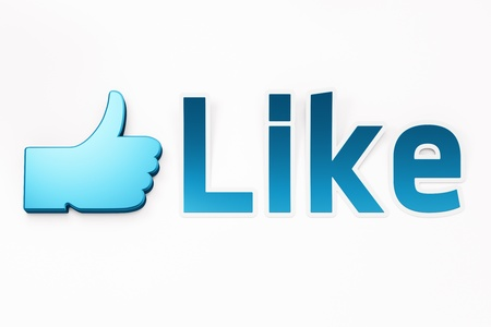 Like word 3d  render on white background Stock Photo - 11699427