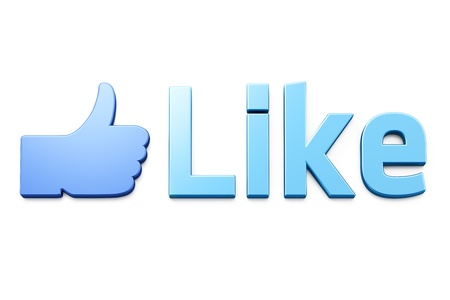 Like word 3d  render on white background Stock Photo - 11699409