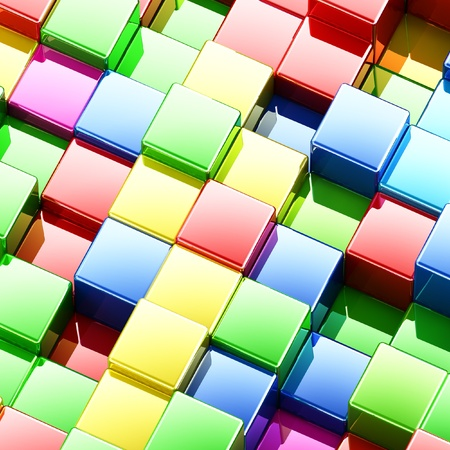 Multicolor abstract background, 3d render photo
