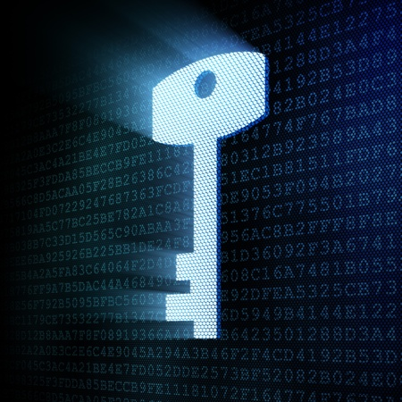 Digital key, 3d render Stock Photo - 12111087