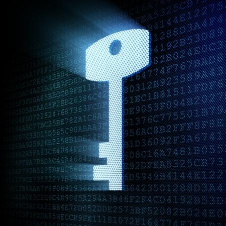 Digital key, 3d render Stock Photo - 12111087