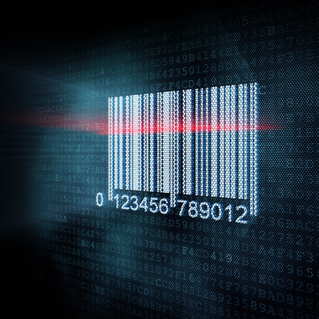 quick response: Pixeled barcode illustration, 3d render