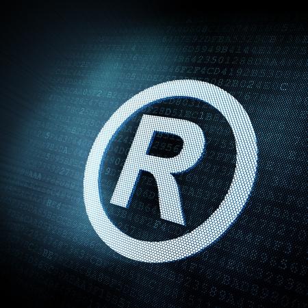 reserved sign: Pixeled Reserved sign illustration, 3d render Stock Photo