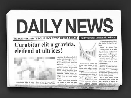 Kranten op donkere achtergrond Stockfoto