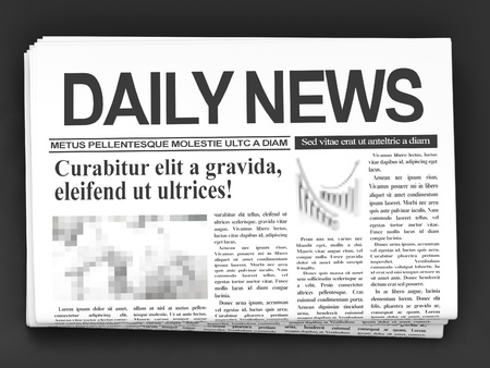 Newspapers on dark background Stock Photo - 13229418