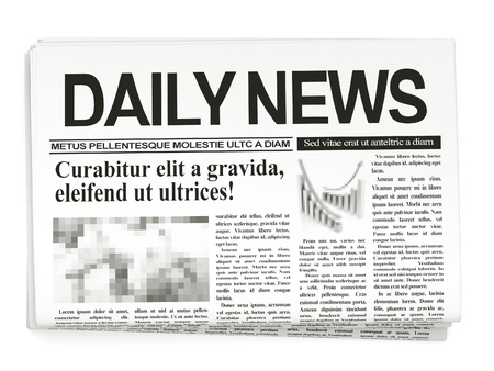 newspaper articles: Newspapers on white background