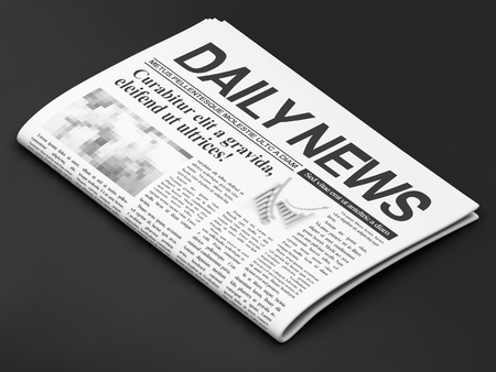 magazine stack: Newspapers on dark background