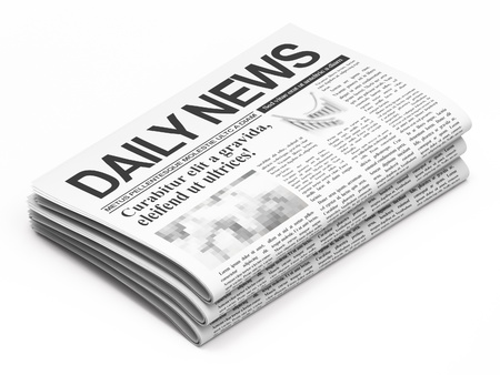 newspaper stack: Newspapers on white background