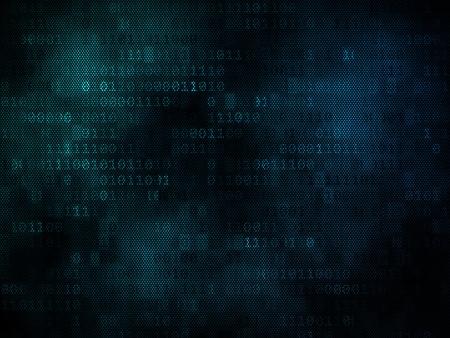 Fondo binario Pixeled en pantalla digital 3d Foto de archivo