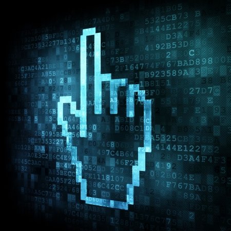 Cursor on digital screen, 3d render Stock Photo - 13931450