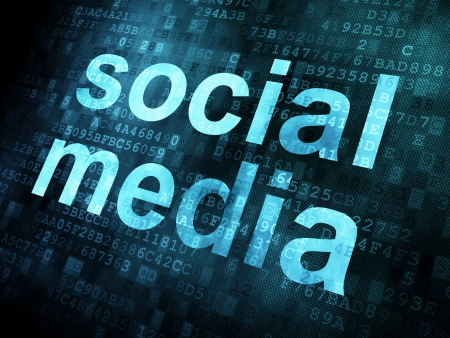 Social media on digital background on digital screen, 3d render Stock Photo - 14081000