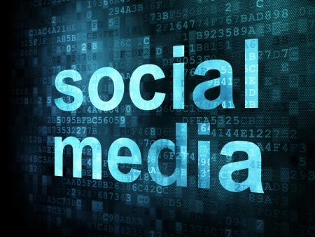 Social media on digital background on digital screen, 3d render Stock Photo - 14080998