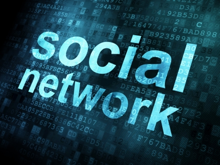 Social network on digital background on digital screen, 3d render Stock Photo - 14081001