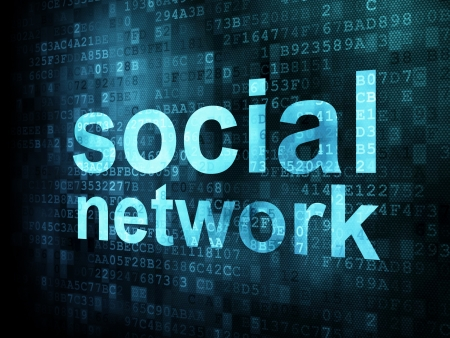 Social network on digital background on digital screen, 3d render Stock Photo - 14080999
