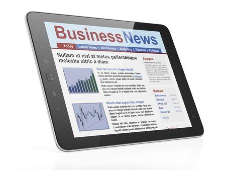 Digital news on tablet computer screen, 3d render Stock Photo - 14080969