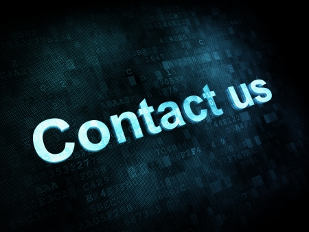 Information technology concept: pixelated words Contact us on digital screen Stock Photo - 14329372